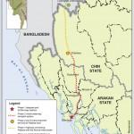 ကုလားတန္ စီမံကိန္းျပ ေျမပံု (ပံု - Kaladan Movement)