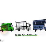 school bus evolution