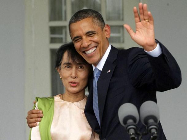 အိုဘားမားသည္ ၂၀၁၂ တြင္ ျမန္မာႏိုင္ငံသို႕ ပထမဆုံးအၾကိမ္ လာေရာက္ေသာ အေမရိကန္သမၼတျဖစ္သည္ (ဓာတ္ပံု - Reuters)