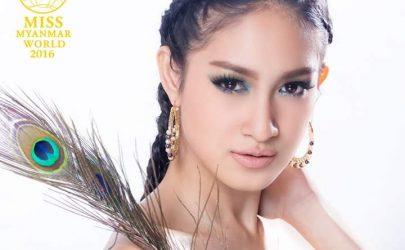 Miss Myanmar World ၿပိဳင္ပြဲ၀င္ အလွမယ္ ေရႊအိမ္စည္ (ဓာတ္ပုံ - ေရႊအိမ္စည္ ေဖ့စ္ဘုတ္မွ)