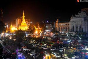 Yangon Bus Service ကို စတင်ပြေးဆွဲတဲ့ ပထမဆုံးနေ့မှာ ဘတ်…