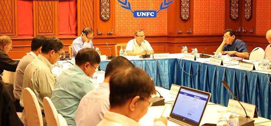 UNFC ႏြင့္ အစိုးရ လကၠ္ႏ္ အဆို်ပဳခ္က္ ညႇိႏႈိင္းေရး ေၾဆးေႏျးျပဲ ရကၼသတၼြတ္ႏိုင္ေသး