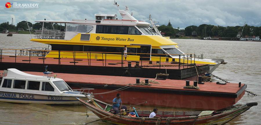 က္ပ္ ၆ ေထာငၲႏ္ ေအပ္ာၥီး ေသဘၤာခရီးစၪ္ Yangon Water Bus ်ဖင့္ ေ်ပးၾဆဲမၫ္