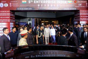 ၅ ကြိမ်မြောက်ကျင်းပသော အိန္ဒိယကုန်စည်ပြပွဲကို ရန်ကုန်မြ…